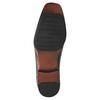 Schwarze Lederhalbschuhe bata, Schwarz, 824-6724 - 26