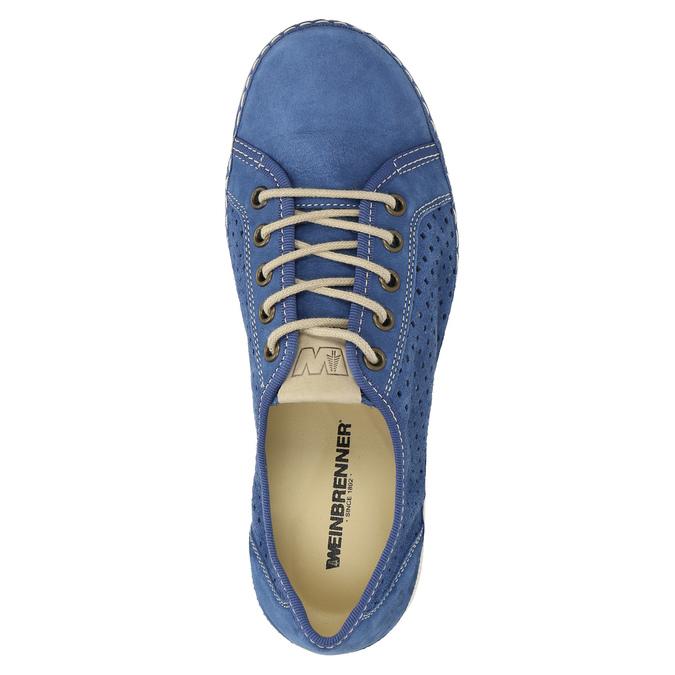 Sneakers aus Leder weinbrenner, Blau, 546-9238 - 19
