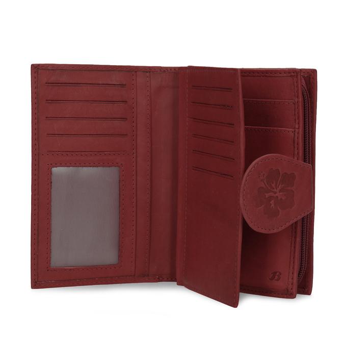 Damen-Geldbörse aus Leder, Rot, 944-5155 - 15