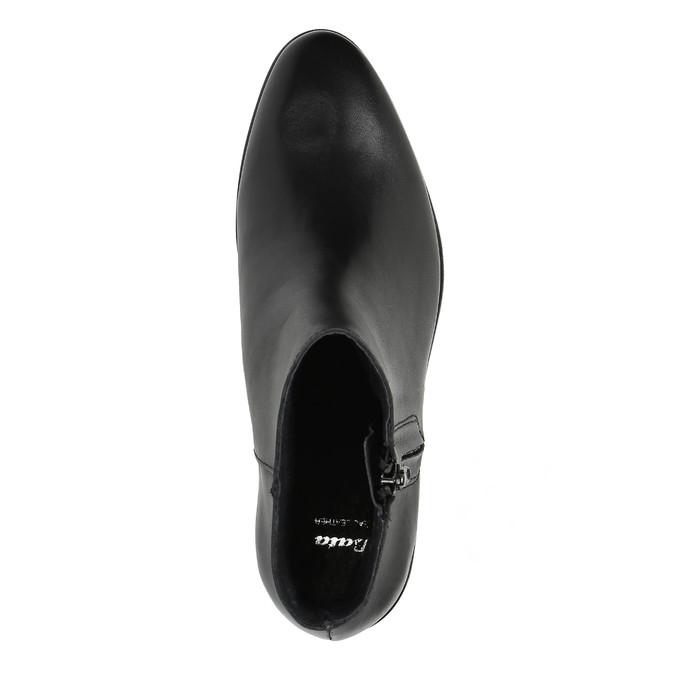 Schwarze Knöchelschuhe aus Leder mit Reissverschluss bata, Schwarz, 594-6518 - 19
