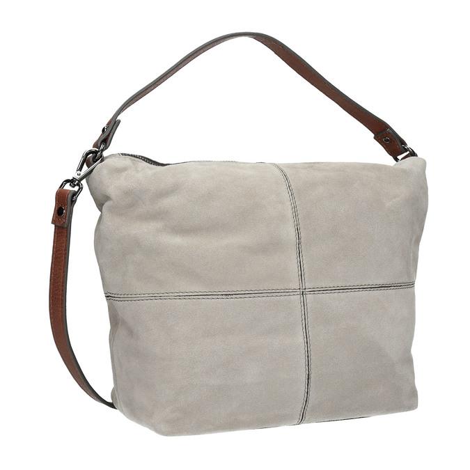 Lederhandtasche im Hobo-Stil bata, Grau, 963-2130 - 13
