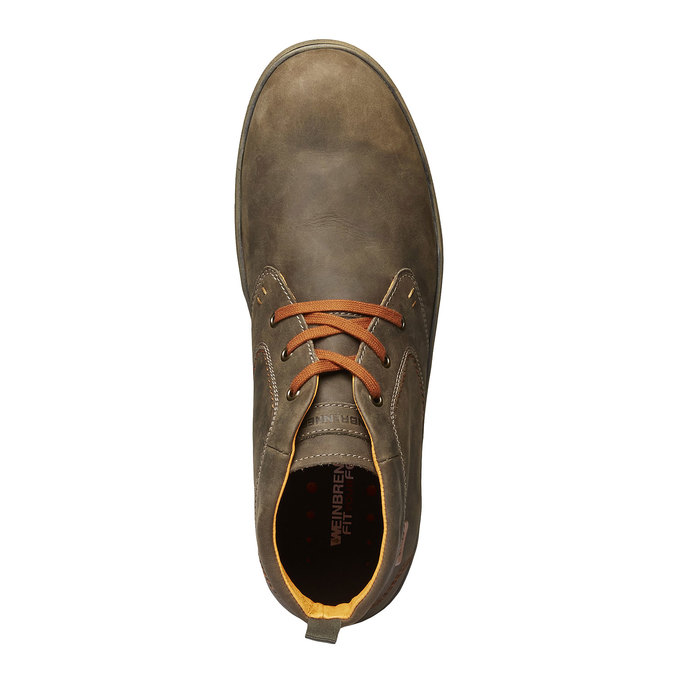 Leder-Sneakers weinbrenner, Braun, 894-2209 - 19