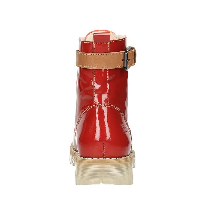 Knöchelschuhe aus Leder mit transparenter Sohle weinbrenner, Rot, 598-5602 - 17