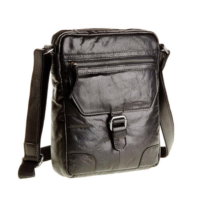 Crossbody-Tasche aus Leder, Schwarz, 964-6180 - 13
