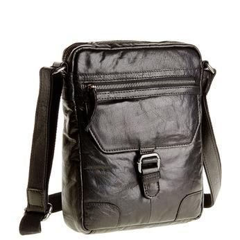 Crossbody-Tasche aus Leder bata, Schwarz, 964-6180 - 13