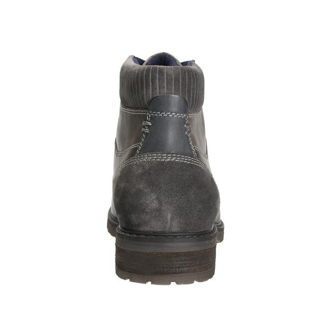 Knöchelschuhe aus Leder bata, Grau, 894-2643 - 17