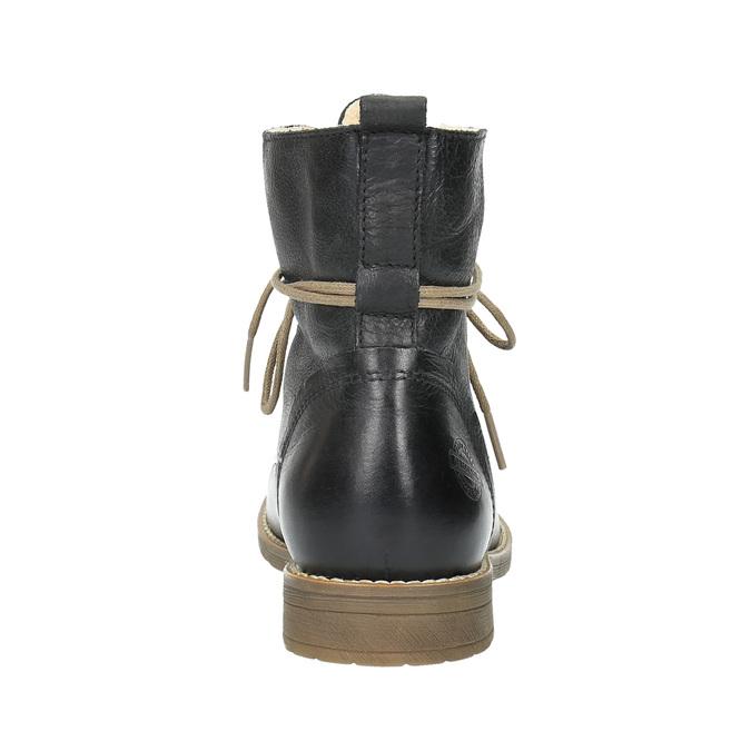 Knöchelschuhe aus Leder mit wärmender Fütterung bata, Schwarz, 594-6610 - 17