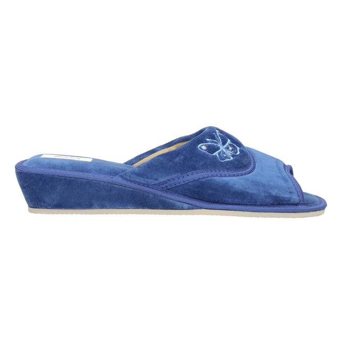 Damen-Hausschuhe bata, Blau, 679-9606 - 15