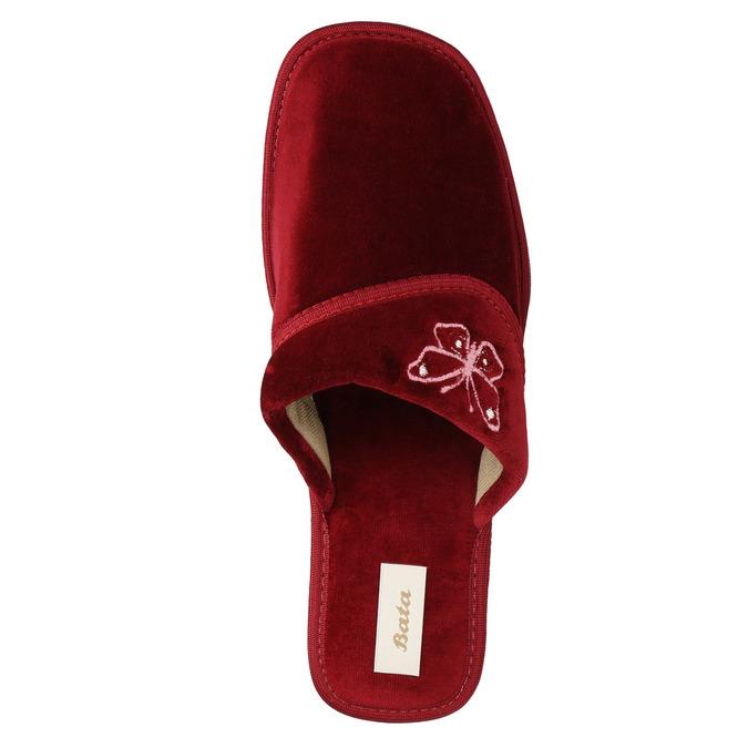 Damen-Hausschuhe mit Keilabsatz bata, Rot, 679-5607 - 19