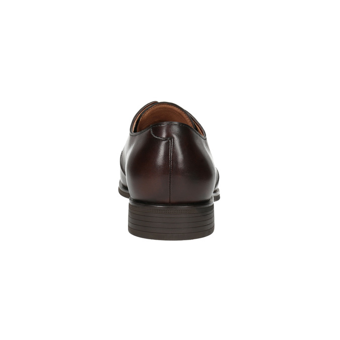 Braune Halbschuhe aus Leder bata, Braun, 824-4754 - 17