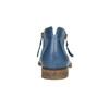 Lederstiefeletten mit Perforation bata, Blau, 596-9647 - 17