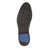 Braune Herrenhalbschuhe aus Leder bata, Braun, 826-4800 - 26