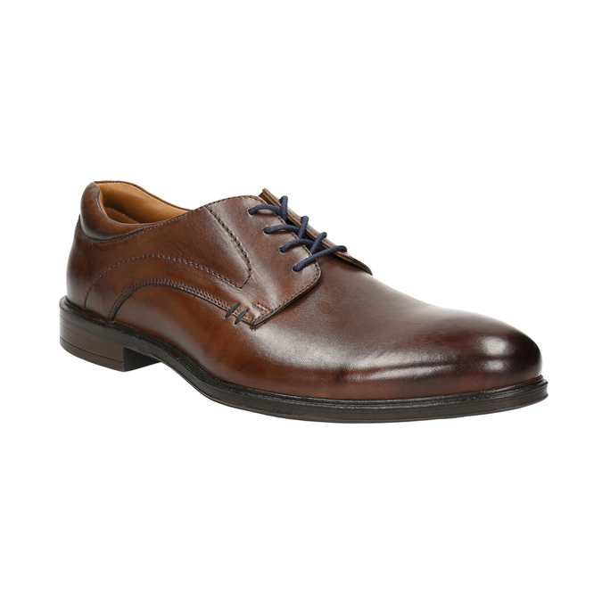 Braune Herrenhalbschuhe aus Leder bata, Braun, 826-4800 - 13