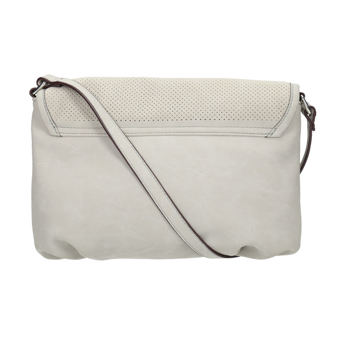 Crossbody-Handtasche mit perforierter Klappe bata, Beige, 961-2709 - 19