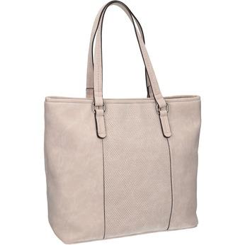 Rosa Handtasche mit perforiertem Detail bata, Rosa, 961-5711 - 13