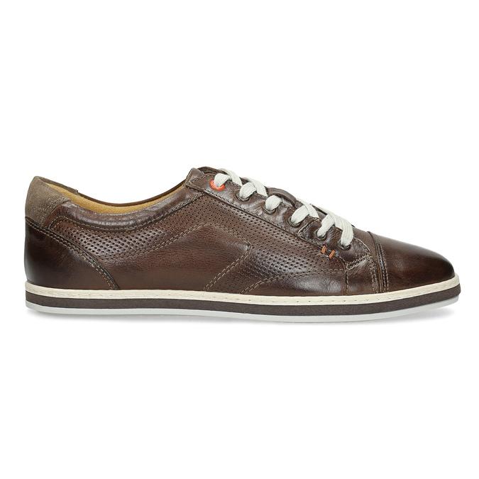 Herren-Leder-Sneakers bata, Braun, 846-4617 - 19