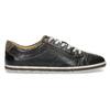 Herren Leder-Sneakers bata, Schwarz, 846-6617 - 19