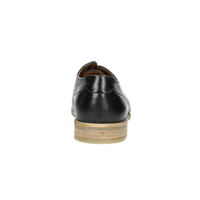 Schwarze Lederhalbschuhe mit heller Sohle bata, Schwarz, 824-6807 - 17