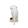 Weisse Lederpumps mit einem Riemchen um den Knöchel insolia, Weiss, 728-1640 - 17