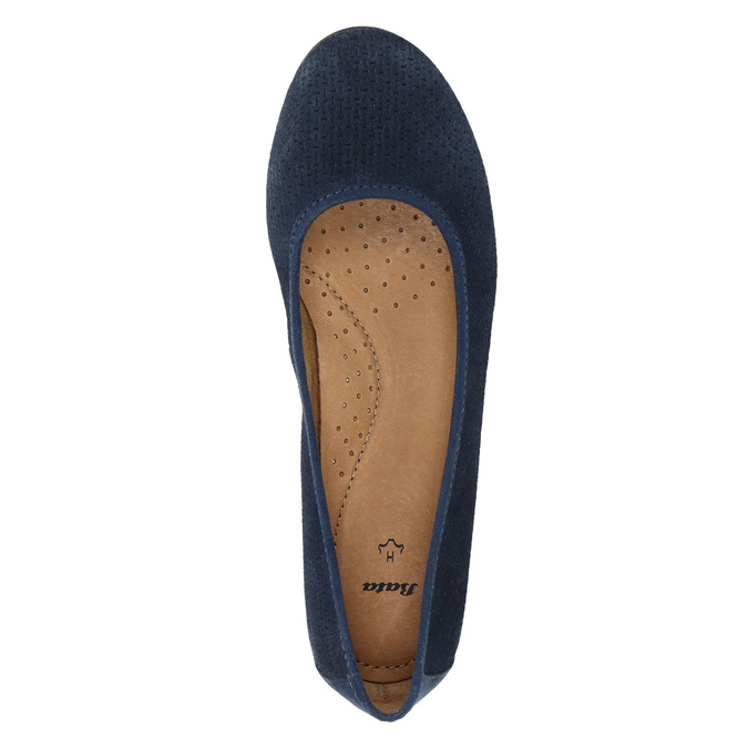Lederpumps der Weite H bata, Blau, 623-9601 - 19
