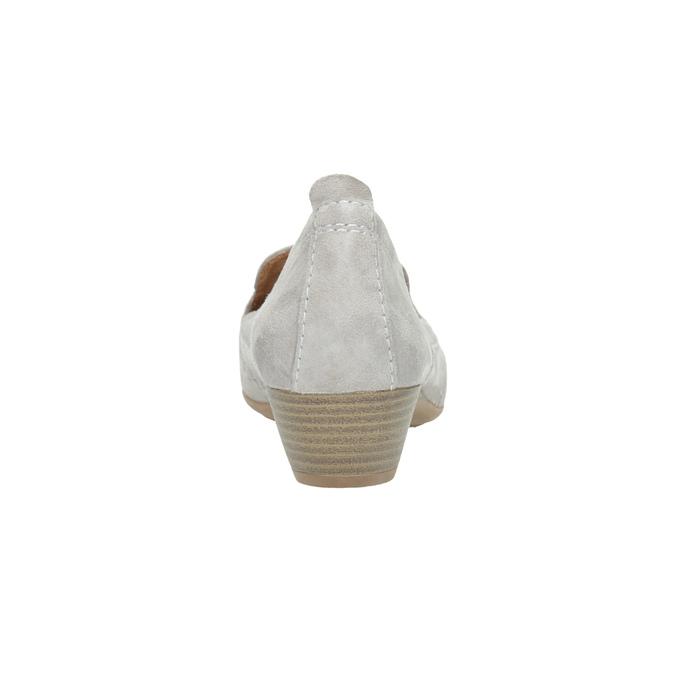 Damen-Leder-Mokassins der Weite H bata, Grau, 523-2603 - 17