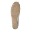 Damen-Leder-Mokassins der Weite H bata, Grau, 523-2603 - 26