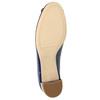 Lederpumps mit einem Schleifchen hogl, Blau, 628-9400 - 26