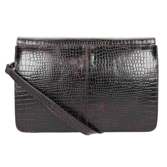Damen-Lederhandtasche in Kroko-Optik vagabond, Braun, 966-3030 - 26