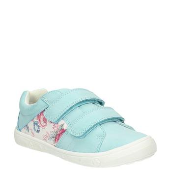 Kinder-Sneakers mit Blumenmotiv mini-b, türkis, 221-7605 - 13