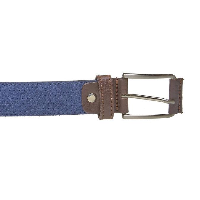Ledergürtel mit Perforation bata, Blau, 953-9325 - 26