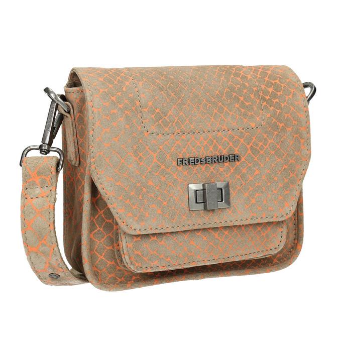 Crossbody-Damenhandtasche aus Leder fredsbruder, Braun, 963-8032 - 13
