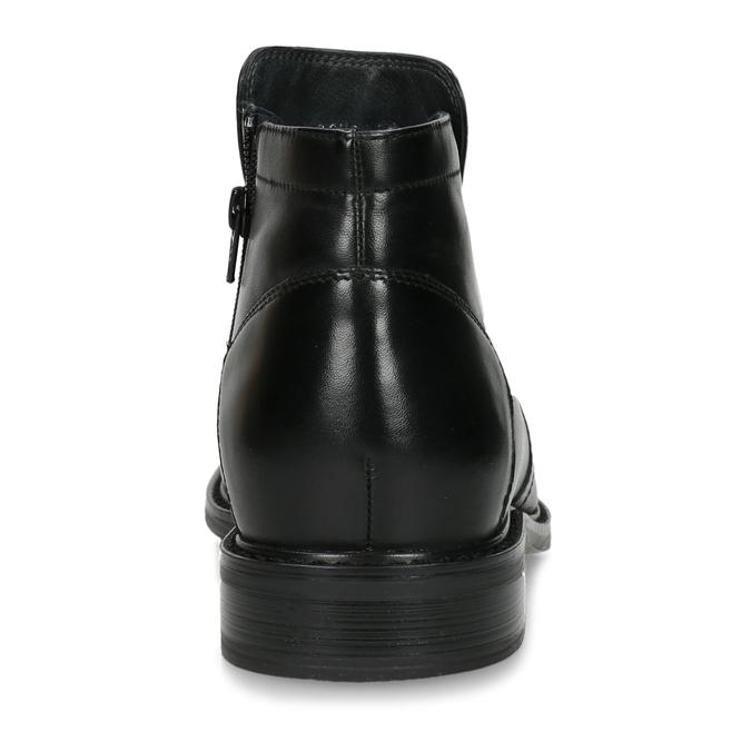 Knöchelschuhe aus Leder mit wärmender Fütterung, Schwarz, 894-6641 - 15