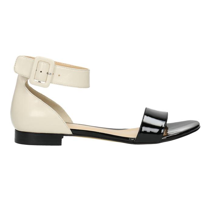 Sandalen aus Lackleder bata, Schwarz, 568-6606 - 15