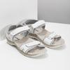 Damensandalen aus Leder weinbrenner, Weiss, 566-1608 - 26