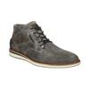 Graue Knöchelschuhe aus Leder bata, Grau, 826-2912 - 13