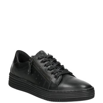 Damen-Sneakers aus Leder bata, Schwarz, 526-6630 - 13