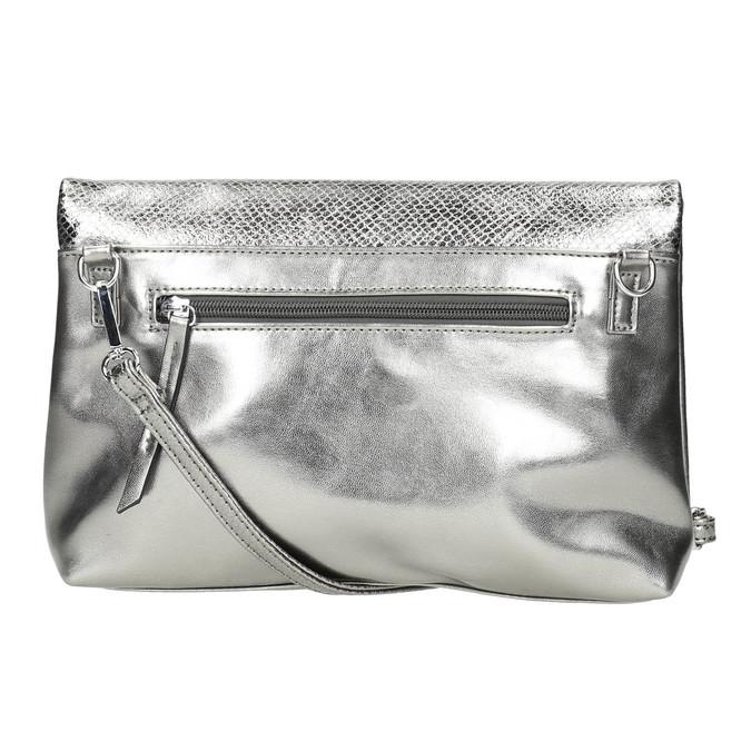 Silberne Crossbody-Handtasche bata, Silber , 961-1501 - 26