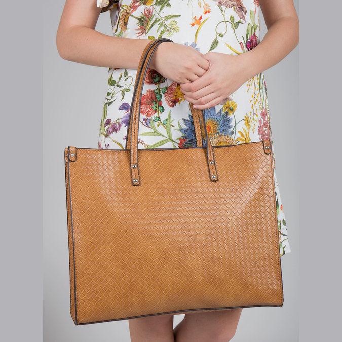 Handtasche mit geflochtenem Muster marie-claire, Braun, 961-3540 - 18