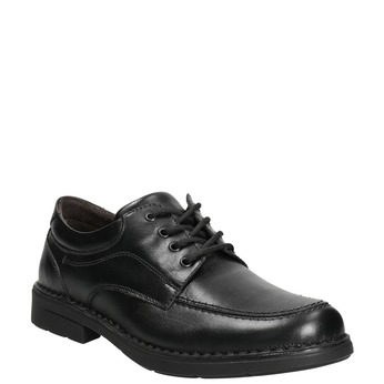 Legere Herrenhalbschuhe aus Leder mit Steppnaht, Schwarz, 824-6987 - 13