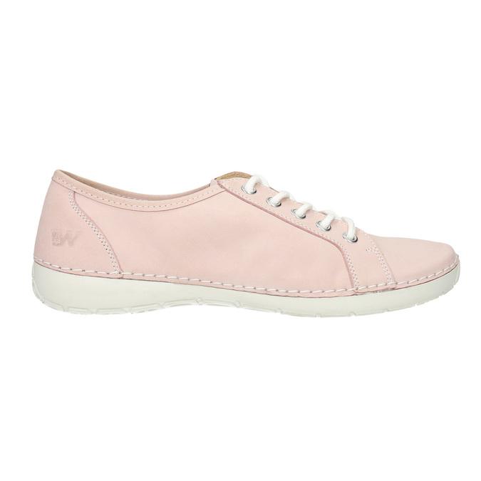 Damen-Sneakers aus Leder weinbrenner, Rosa, 526-5644 - 26