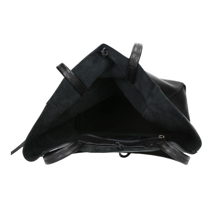 Lederhandtasche im Shopper-Stil bata, Schwarz, 964-6122 - 15