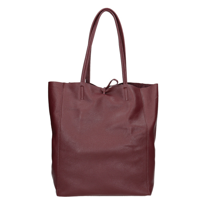 Weinrote Shopper-Handtasche aus Leder bata, Rot, 964-5522 - 16