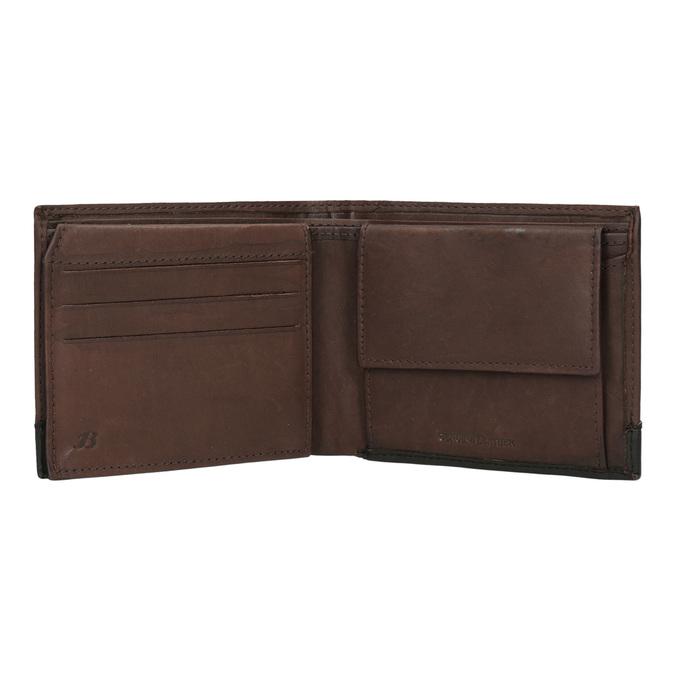 Herren-Geldbörse aus Leder bata, Braun, 944-8149 - 15
