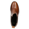Damen-Knöchelschuhe aus Leder mit Absatz bata, Braun, 694-4641 - 26