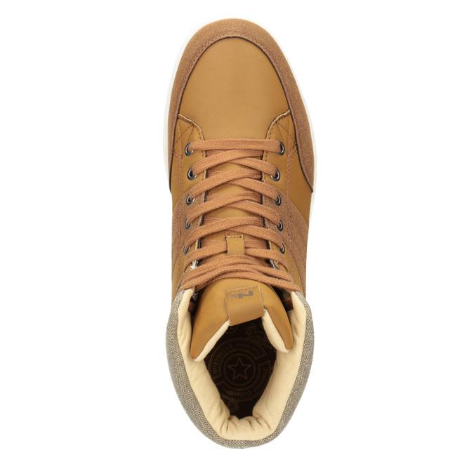 Knöchelhohe Herren-Sneakers north-star, Braun, 841-3608 - 15