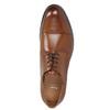 Braune Lederhalbschuhe im Derby-Look bata, Braun, 826-3682 - 26