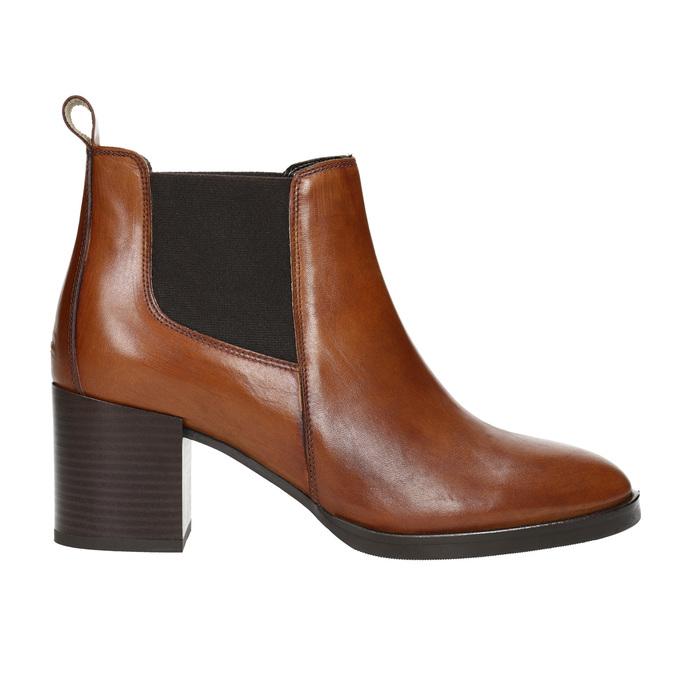 Damen-Knöchelschuhe aus Leder mit Absatz bata, Braun, 694-4641 - 15