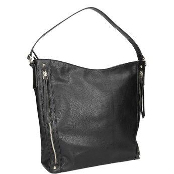 Handtasche mit Reissverschluss bata, Schwarz, 961-6748 - 13