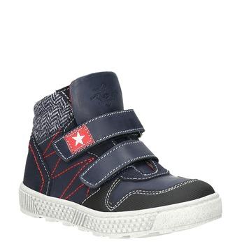 Knöchelhohe Sneakers aus Leder mini-b, Blau, 214-9203 - 13