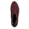 Knöchelschuhe aus geschliffenem Leder bata, Rot, 593-5603 - 26